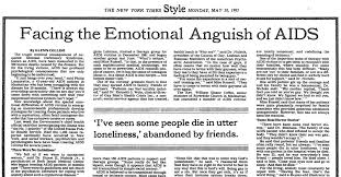 Six Times Journalists On The Papers History Of Covering Aids And