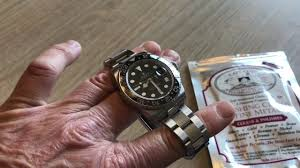 polishing a rolex gmt master 2 clasp and polished center links