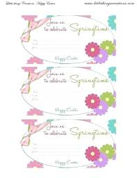 Easter Invitation Template Caseyroberts Co
