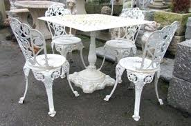 white iron garden furniture. White Metal Garden Furniture Cast Iron Patio Bench Uk U