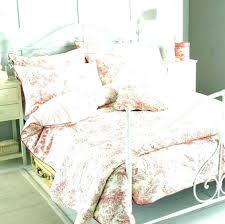 duvet covers 33 vibrant idea pink toile comforter quilts french quilt bedding sets set country for