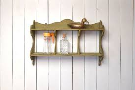 primitive wood wall shelf antique early