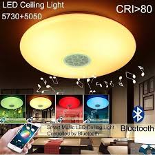 24w dimmable 15 inch led bluetooth connect play ceiling light with speaker