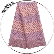 2019 WorthSJLH Lilac <b>African Lace Fabric 2018</b> High Quality Swiss ...