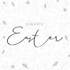 Calligraphy Backgrounds Happy Easter Typography Poster On The Hand Draw Doodle Backgrounds