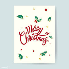 Designs For Christmas Cards Free Merry Christmas Card Design Vector Free Image By Rawpixel