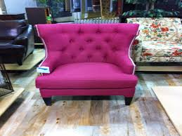 home goods dining chairs beautiful pink wingback tufted chair with nailhead trim from