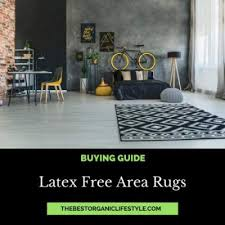 where to latex free area rugs