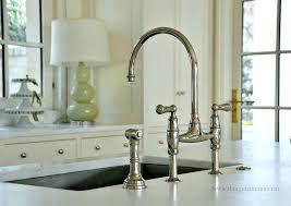 bridge faucet kitchen kitchen victorian high spout lever handle bridge kitchen faucet with side sprayer