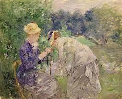 in the bois de boulogne painting by berthe morisot