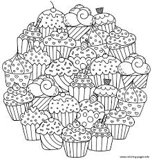 You can download free printable cupcake coloring pages at coloringonly.com. Mandala Delicious Cupcakes Coloring Pages Printable