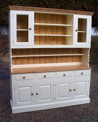 White Kitchen Dresser Unit Cap Pine And Oak Furniture