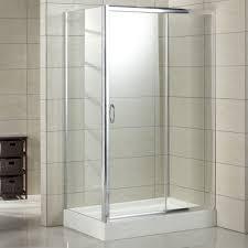 bathroom square corner shower enclosure with grey tiled wall regarding shower enclosures kits bathtub wall shower