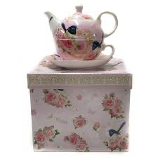 Gift For Kitchen Tea Blue Wren Pink Teapot Tea For One Ceramic Kitchen China Porcelain