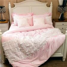 pink and gold bedding luxury embroidery bed linen pink gold cotton bedding set bedspread queen king