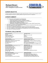 Resume Sentence Examples 12 13 Objective Sample Lascazuelasphilly Career Cv 5