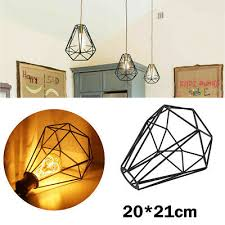 hexagon diamond metal pendant light