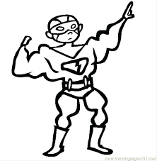 Coloring Pages Of Superheroes Superhero Costume Coloring Page Free