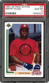 1991 Upper Deck Final Edition Dmitri Young | PSA CardFacts®