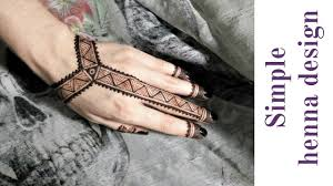 Simple Henna Design On Hand простой дизайн мехенди для начинающих