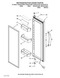 Jacuzzi parts diagram elegant gss26c4xxa03 refrigerator door parts