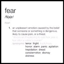 extended definition essay fear
