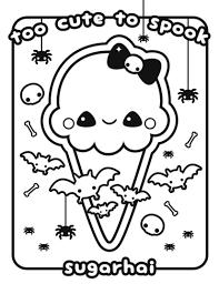 Kawaii Food Coloring Pages Printable Vidcatorg
