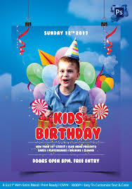 birthday flyer psd ai vector eps format kids birthday party flyer template