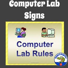 Computer Lab Rules Posters For Back To School Classroom