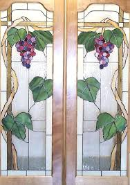 painted glass doors cabinet doors with g motif painting sliding glass closet doors