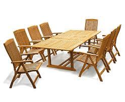 dorchester teak extendable garden table