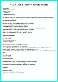 Resume For Cdl Truck Driver Tomyumtumweb Com