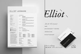 Great Resume Designs ResumeCV Elliot Resume Templates Creative Market 19