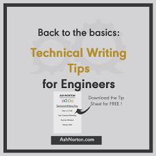 technical writing basics for engineers ash norton