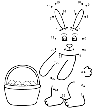 Easter Bunny Connect The Dots Count By 1s Easter
