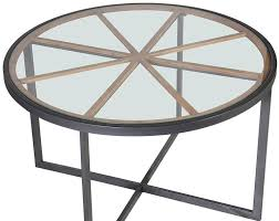 bistro metal base and glass top round dining table