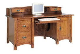 Natural wood computer desk