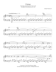 philip wesley sheet music union transcend sheet music philip wesley