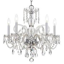 full size of living nice strass crystal chandeliers 20 crystorama traditional collection 5 light polished chrome