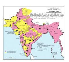 historical maps of india from 650 bc India Map Before 1600 map of india in 1937 (from british museum) princely states shown in yellow india map before 1600