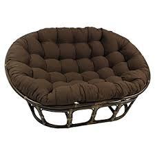 Amazon.com: Blazing Needles Solid Twill Double Papasan Chair Cushion, 58