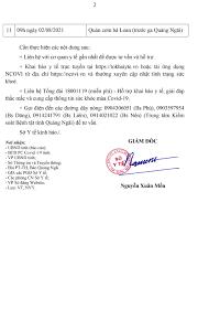 Thông báo Khẩn của Sở Y tế Quảng Ngãi - Báo Quảng Ngãi điện tử