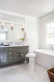 Beautiful Transitional Bathroom Kartell Ghost Chair Decoratively Two Custom Beautiful Master Bathrooms Exterior
