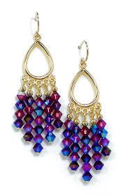 03 04 224 crystal chandelier earrings burdy blue