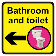 bathroom sign with arrow. 300x300mm Bathroom \u0026 Toilet Dementia Sign Arrow Left With