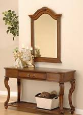 hallway table and mirror. Mahogany Table Console And Mirror Antique Style Hall 1 Drawer Hallway