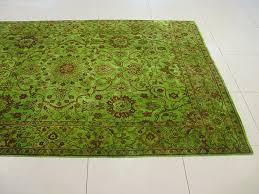 rugsville overdyed lime green rug 11099