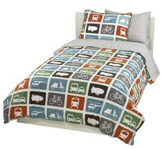 amazoncom dwellstudio transportation twin duvet set multi home