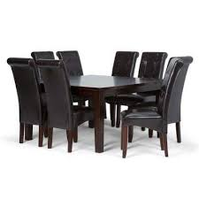 cosmopolitan 9 piece tanners brown dining set