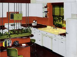 Retro Renovation Kitchen Kitchen Window Blinds Small Breakfast Nook Ideas Bay Window